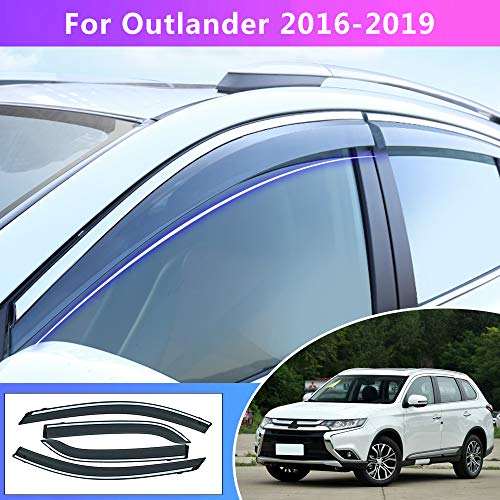 Tuqiang Fenster Visier Für M itsubishi Outlander 2016 2017 2018 ABS Kunststoff Vent Shades Windabweiser Sonnen Regen Schutz 4 Stück