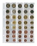 Lindner MU40 Multi collect Münzblätter UNIVERSAL für 5 Euro-Kursmünzensätze mit je 8 Münzen-schwarz