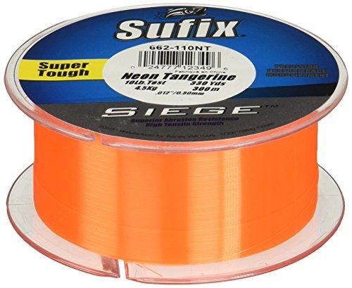 Sufix Siege Angelschnur, Spulengröße, 330 m, Unisex-Erwachsene, 662-120NT, Neon Tangerine, 20 lbs