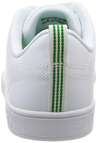 adidas Vs Advantage Clean K, Chaussures de Sport Garçon, Blanc, 28 EU Blanco (Ftwbla / Ftwbla / Verde)