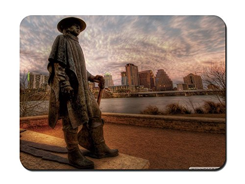Monument für die große Stevie Ray Vaughan in Austin tx. HDR – 9 x 7 Maus (Party Austin Supplies)