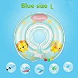 #9: Un Branded NewMambobabyBaby Swimming Neck Float Ring Inflatable Kid Neck Float Safety Product Beach Accessories Baby Swimming Pool Accessories Blue Size L