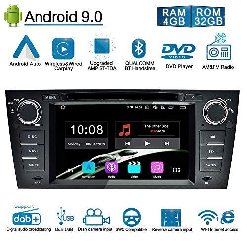 Ohok 7 Pollici Android 9.0 Pie Octa Core 4G+32G 1 Din In Dash Autoradio Schermo di Tocco Lettore DVD Navigatore GPS Con Bluetooth Per BMW 3 Series/E90 E91 E92 E93 2006-2011
