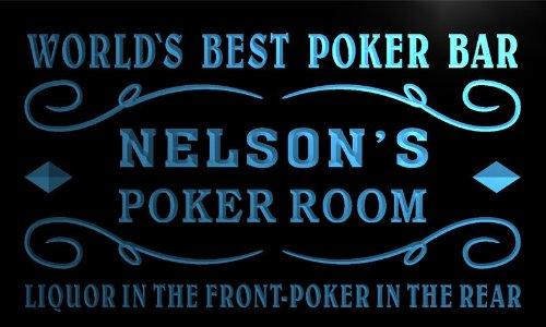 qn251-b-nelsons-casino-best-poker-room-liquor-bar-beer-neon-light-sign