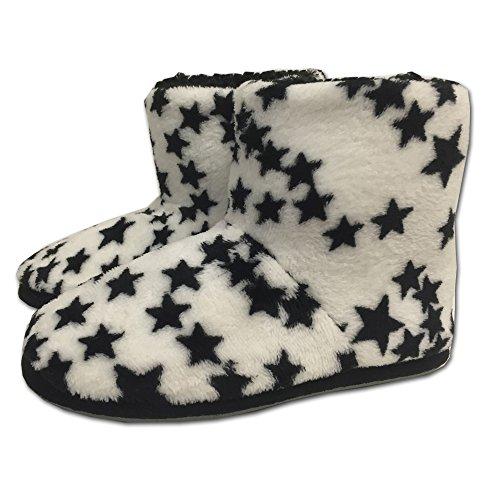 Jemidi Senhoras Chinelos Botas Cabana Estrelas Forrada Botas Sapatilhas Casa Branca Com Estrelas
