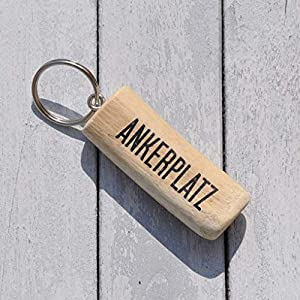 Schlüsselanhänger aus Holz - Ankerplatz
