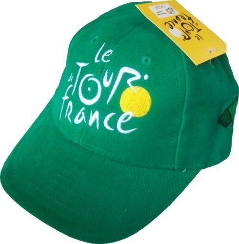 TOUR de France Cyclisme Casquette - Collection officielle Velo - Maillot Vert - Taille réglable adulte, ado et enfant