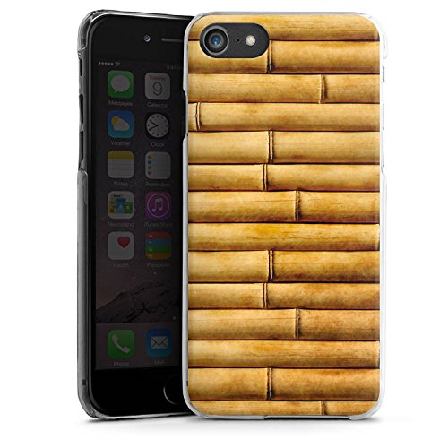 Apple iPhone X Silikon Hülle Case Schutzhülle Bambusmatte Bambusrohre Look Muster Hard Case transparent