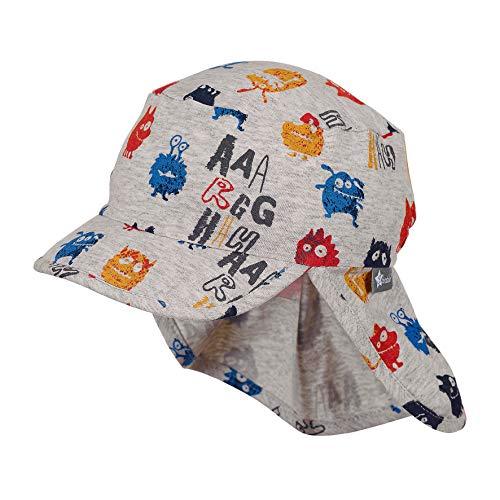 Sterntaler Schirmmütze mit Nackenschutz, Alter: 2-4 Jahre, Größe: 53, Silber