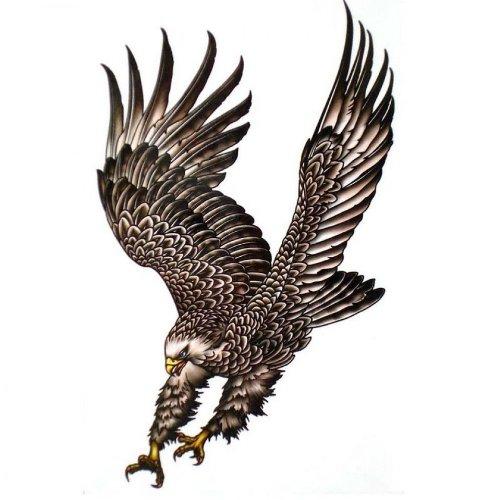Hommes faux tatouages étanches personnalisés faux tatouages ailes d'aigle