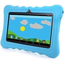 GBtiger L701 Tablet PC de 7 Pulgadas para Niños  (Android 4.4, Quad Core 1.3GHz, 512MB RAM + 8GB ROM, Resolución HD de1024 x 600, WiFi, Bluetooth) color Negro/Azul