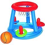 Bestway - Flotador canasta baloncesto con pelota 28 cm, multicolor (8321087)