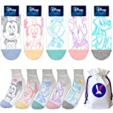 Charakter Knöchel Socken mit Beutel Packung mit 5 Paaren - Mickey Mouse, Minnie Mouse, Donald Duck, Daisy Duck, Pluto (Mickey Maus, Minnie Maus, Ente Donald, Ente Daisy) Sneakersocken