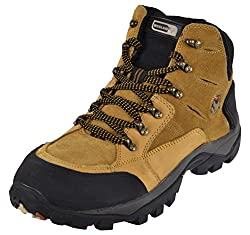 WOODLAND Mens Beige Leather Combat Boots - 8 UK
