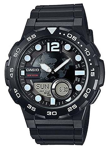 Casio Collection – Herren-Armbanduhr mit Analog/Digital-Display und Resin-Armband – AEQ-100W-1AVEF