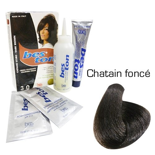 Kit coloration cheveux - Teinte Châtain Foncé
