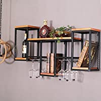 DYY European wall grid bookshelf, wine rack, fashion and practical wall-mounted decorations, living room, American wine rack,two,One size