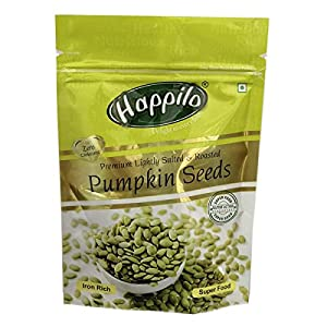 Happilo Premium Pumpkin Seeds – Roasted, Lightly Salted Pouch, 200 g