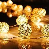 Zilong-Chane-de-Boule-de-Rotin-Lumire-20-LED-Perles-Guirlande-Guirlandes-Lumineuses-Dcoration-Jolie-Accessoire-Magnifique-pour-Party-Anniversaire-Mariage-BBQ-22m