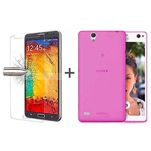 tboc-pack-custodia-gel-tpu-rosa-pellicola-protettiva-per-display-in-vetro-temperato-per-sony-xperia-