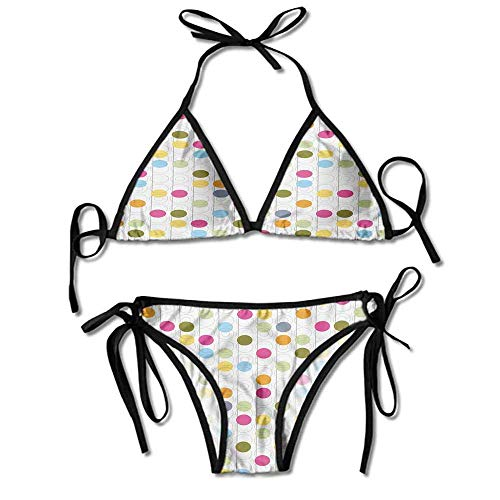 Ultra Construction Set (Custom Bikini Jewelry for Women Pattern with Circles and Colorful Printing)