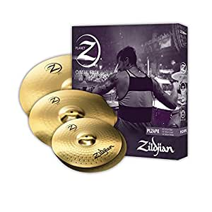 "Zildjian Planet Z PLZ4PK 14"", 16"" and 20"" Cymbal Set, 3 Pack"