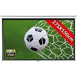 Jago Beamer Leinwand (Größenwahl) Heimkino 275x150cm (313cm Bilddiagonale / 123Zoll) HDTV/3D tauglich