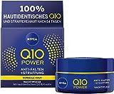 NIVEA Q10 Power Anti-Falten + Straffung Nachtpflege für jünger aussehende Haut im 2er Pack (2x 50...