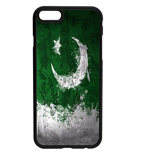 Pakistan Pakistani Painted Flag Rubber Bumper Hard Back Phone Case Cover for (iPhone X / Ten) (6 4 Flag X)