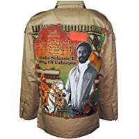 Raw Blue Haile Selassie Shacket Jacket met lange mouwen Knoop Hals Casual Shirts