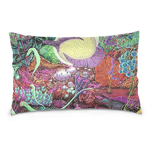 pillows covers 20x30 inch The Cool Burger Walrus 100% Cotton Canvas Embroidered for Home Decorative Standard Pillowcase