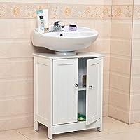 Fineway® Under sink Bathroom Cabinet Cupboard Vanity Unit Under Sink Basin Storage Wood