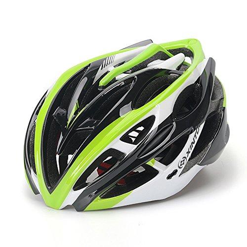 Qarape Profession Bike Helm mit Visier Schild Safety Protective Fahrradhelm Verstellbare Multi-Use Road & Mountain Biking Fahrrad Helme Komfort Leichtes, atmungsaktives Reithelm für Outdoor-Sportarten (Schaum-visier)