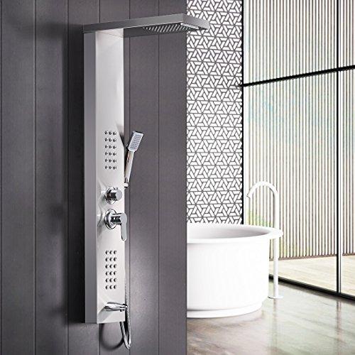 GD Duscharmaturen Regendusche Duscharmaturen Set Duschsysteme Badewanne Wasserfall-Duschwand aus Edelstahl - Badewanne Wasserfall