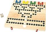 small foot 9954 Gesellschaftsspiel 'Barrikade' aus Holz, Würfel- und Strategiespiel für 2 bis 4 Spieler, ab 3 Jahren