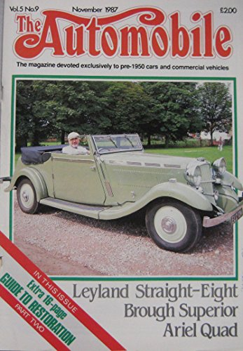 The Automobile magazine Vol.5, No.9 11/1987 featuring for sale  Delivered anywhere in UK