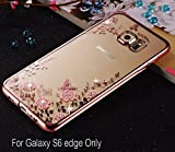 Best Galaxy S6 Phone Case - KC Shockproof Silicone Soft Transparent Auora Flower Case Review