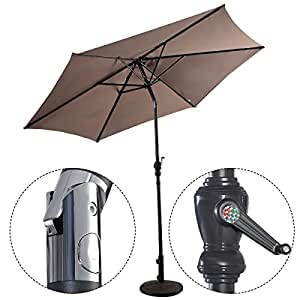 fds costway sonnenschirm ampelschirm gartenschirm kurbelschirm strandschirm garten. Black Bedroom Furniture Sets. Home Design Ideas