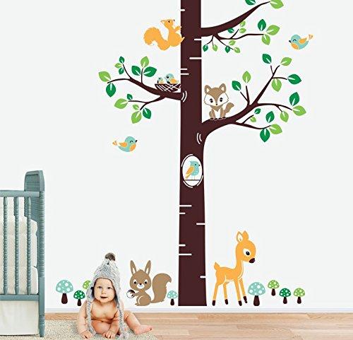 MYVINILO–Adesivo Bambini–Magic Forest/menta, verde chiaro, verde medio, marrone, Marrone chiaro