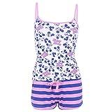 Blauer rosa Schlafanzug mit Micky Maus von Walt Disney - 32-34 / UK 6-8 / EU 34-36
