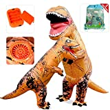 VAMEI Costumi per bambini adulti Costume da dinosauro T-Rex gonfiabile Costume da genitore-bambino Vestito divertente Cosplay per Halloween Party di Dinosauro di Carnevale - Set di 2