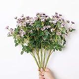 Bienvenido a compartir sus experiencias de decoración con Tifuly. Tamaño: altura aproximada de 14.5 pulgadas, flor de 0.79 pulgadas de diámetro, cada manojo tiene 20 cabezas de flores Paquete: 1 paquete incluye racimos de flores silvestres ar...