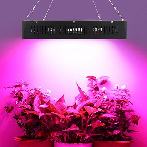 LED Pflanzenlampe Grow Lampe 2400W Vollspektrum Gewächshaus Pflanzenlicht Zimmerpflanzen für Blume Gemüsse Schwarz Schale 480x330x95mm