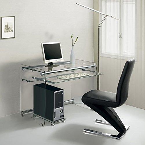 Hogar Decora Mesa escritorio/ordenador cristal 90x55 cm