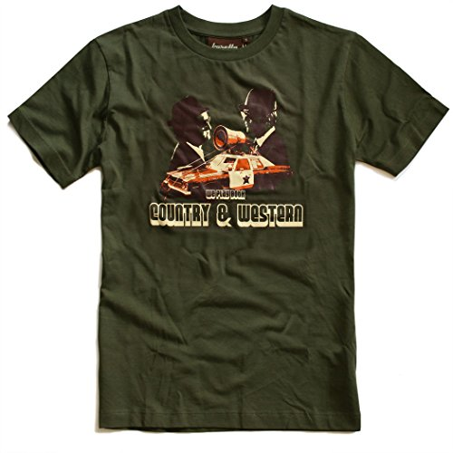 Baretta T-Shirt Country & Western, oliv, 80er Jahre Kultfilm, Rawhide, L