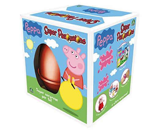Giochi preziosi - peppa pig super pasqualone, uova con sorprese
