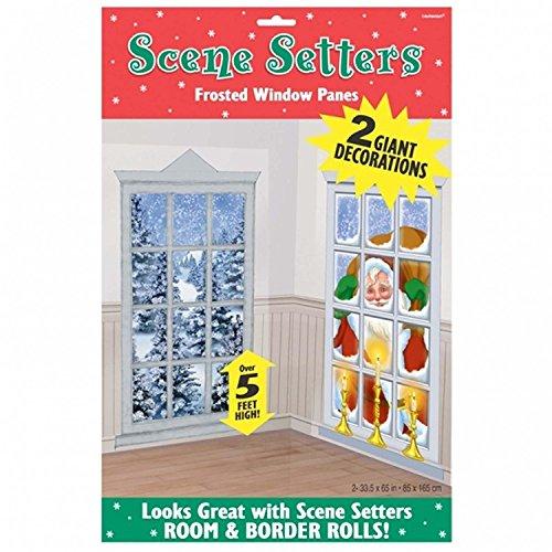 Snowy Frost Fenster, Weihnachtsdeko Scene Setter Party Bringt, Ons, Kunststoff, Dekoration, 65 M X 85 cm ()