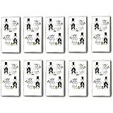Pañuelos de papel (10 paquetes con 10 unidades), diseño de pareja recién casada
