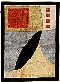 Nain Trading Ziegler Gabbeh 219x159 Orientteppich Teppich Dunkelgrau/Rost Handgeknüpft Afghanistan Design Teppich Modern