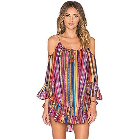 Vestito da estate delle donne, FEITONG arcobaleno